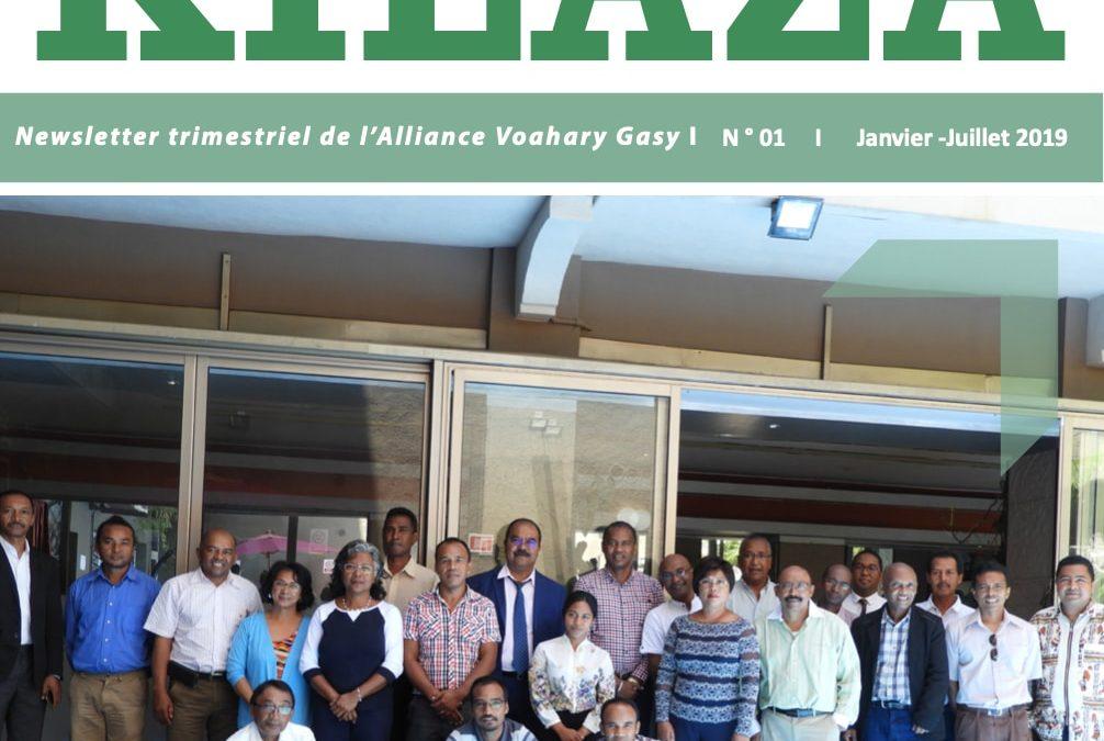 Newsletter trimestriel de l'Alliance Voahary Gasy I N ° 01 I Janvier -Juillet 2019